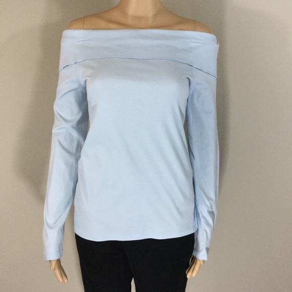 c4173fc74a2 Tibi Off the Shoulder Long Sleeve Top